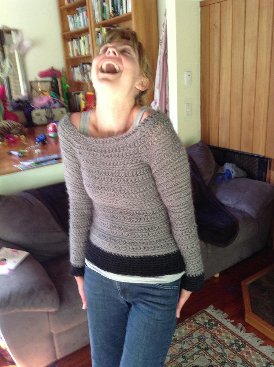 Textured Jumper Crochet Pattern – Rachel