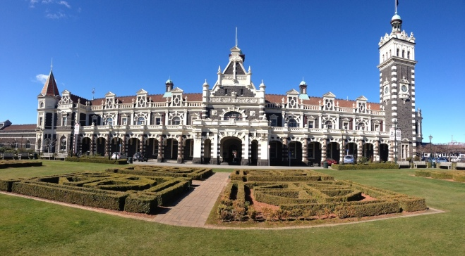 Dunedin train station (not really at the Botanic Gardens but nearby)