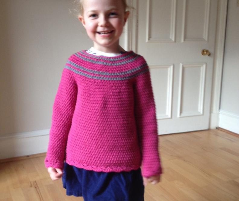 Image of Elizabeth in crochet jumper