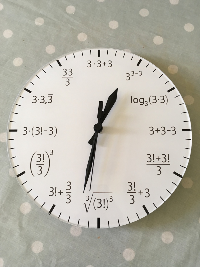 A mathematician's clock