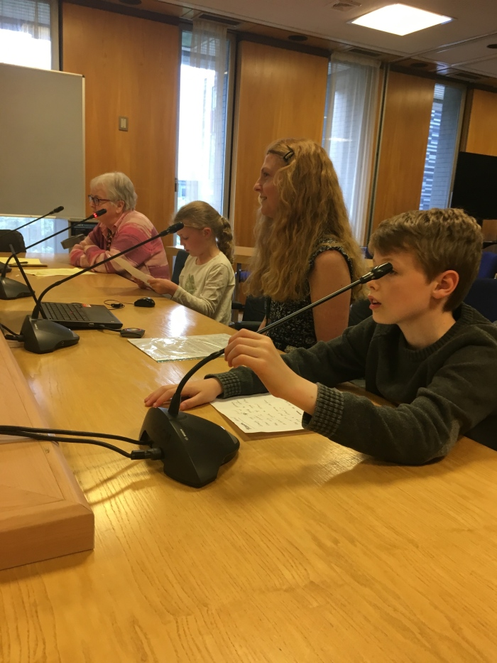 My kids addressed the city council petitions committee
