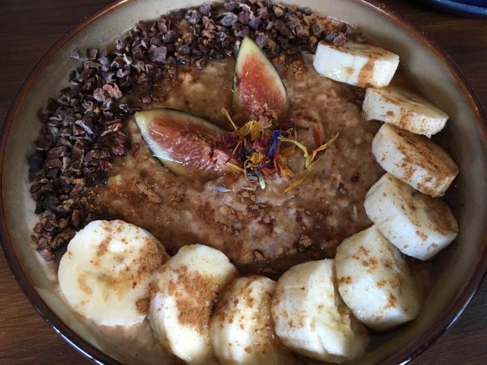 Porridge with peanutbutter