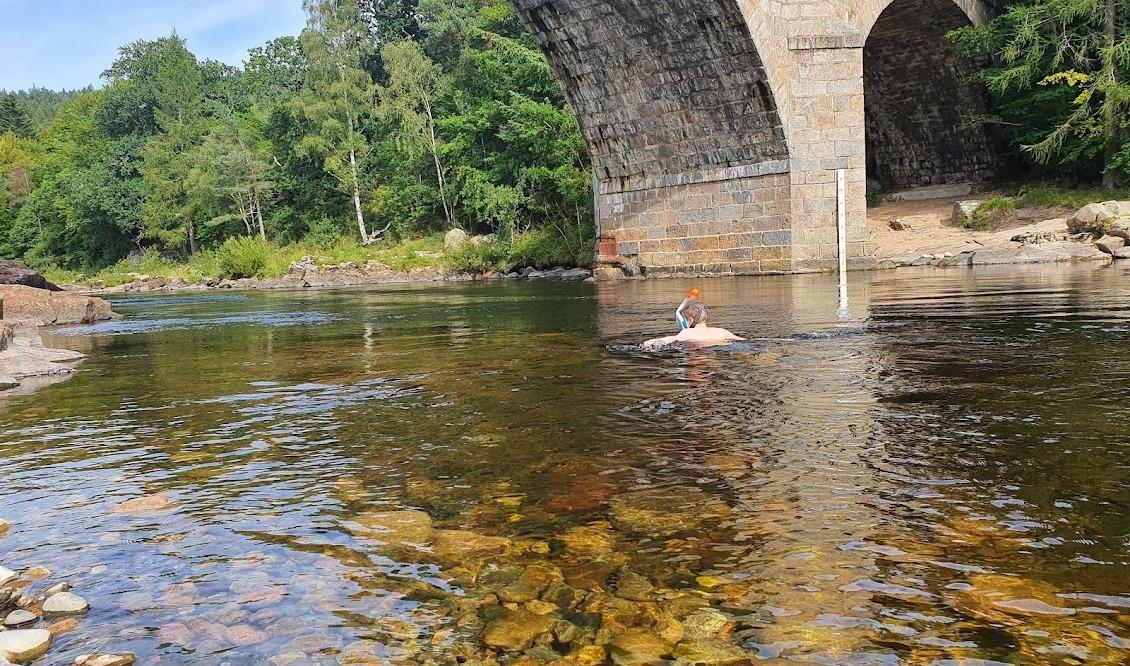 Swimming at Potarch Bridge